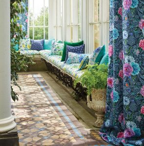 Tessuti in cotone stampato per tende e cuscini