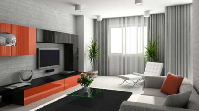 Tende per soggiorno moderno - Idea Tenda
